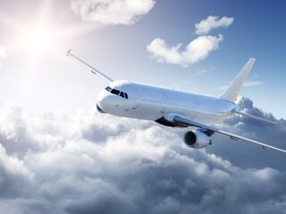 Airplane in the sky – Passenger Airliner
